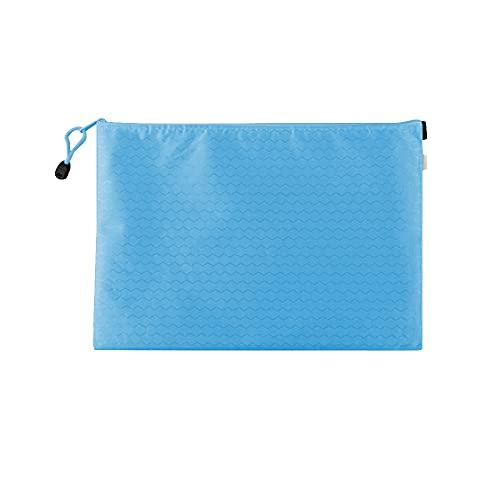 Muka Paquete de 10 soportes de documentos con cremallera, bolsas de archivo, bolsas de malla con cremallera, organizador de documentos, azul claro (Azul) - 6DKC-JR0005_LIGHTBLUE-B5