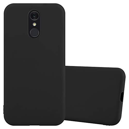Cadorabo Custodia per LG Q7 in Candy Nero - Morbida Cover Protettiva Sottile di Silicone TPU con Bordo Protezione - Ultra Slim Case Antiurto Gel Back Bumper Guscio
