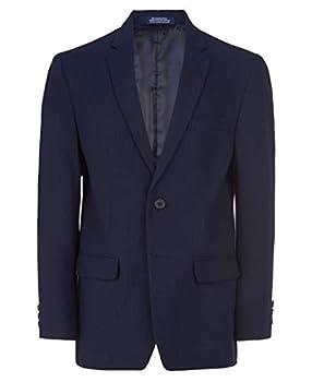 IZOD Boys  Big Bi-Stretch Blazer Suit Jacket Blue Mini Grid 14