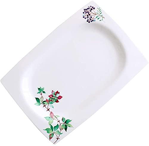 Juego de tazón de cereales Placa de pescado plato de pescado plato plato cubiertos combinación doméstico grande rectangular plato plato al vapor plato de pescado microondas horno (tamaño: 10.5 pulgada
