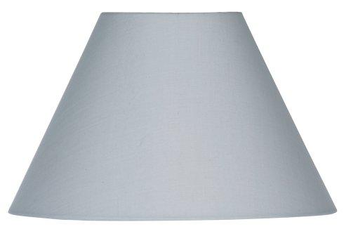 Oaks Lighting Lampenschirm aus Baumwolle, rund/konisch, weiches Grau