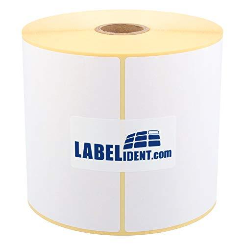 Labelident Versandetiketten DHL, UPS, DPD - 103 x 199 mm - 500 BPA-freie Thermo Etiketten Eco auf 2 Rolle(n), 1 Zoll Kern, Desktopdrucker, Thermodirekt permanent, Trägerperforation