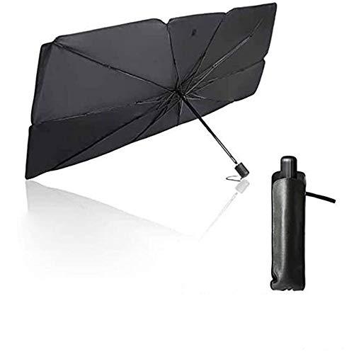 hengguang Paraguas del Parasol del Parabrisas del Coche, Protector Solar Plegable De Rayos UV Y Protector del Parasol del Calor con Bolsa De Almacenamiento 79 * 145 cm