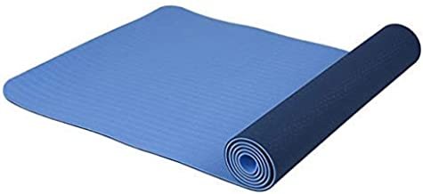 Print Yoga Mat New Mat for Fitness 183cm*61cm*6mm Waterproof Folding Gym Fitness Mat Non-slip Yoga Mat Gymnastics,HB023,Colour:Blue 瑜伽垫 (Color : Blue)