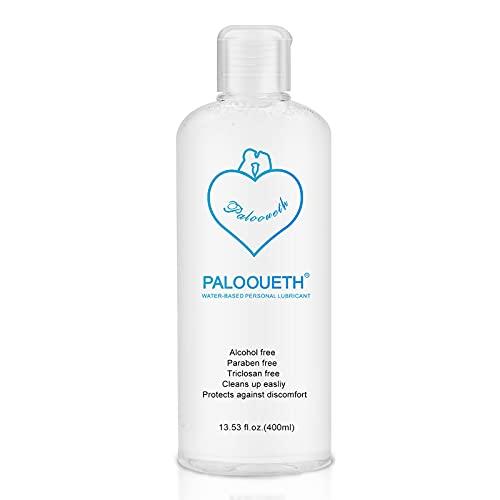 Lubricante de 400 ml a base de agua, lubricante Premium Aqua seguro, efecto prolongado y gel íntimo sensible.