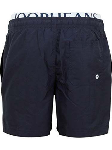 Joop! Herren Badeshort Long Beach - Badehose, doppelter Bund, Jeans Logo, einfarbig (X-Large)