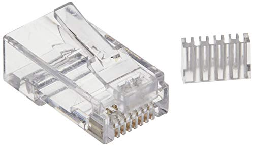 StarTech.com Cat 6 RJ45 Modular Plug for Solid Wire - 50 Pack (CRJ45C6SOL50),Clear