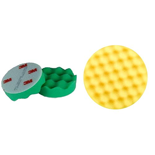 3M Perfect-it III Polierschaum, Durchmesser 75mm,4 Stück & Perfect-it III Polierpad, Durchmesser 75mm, 4er Set