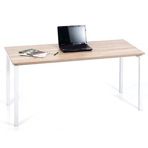 Scrivania doppia bambini ufficio camera cameretta bianco rovere 160cm