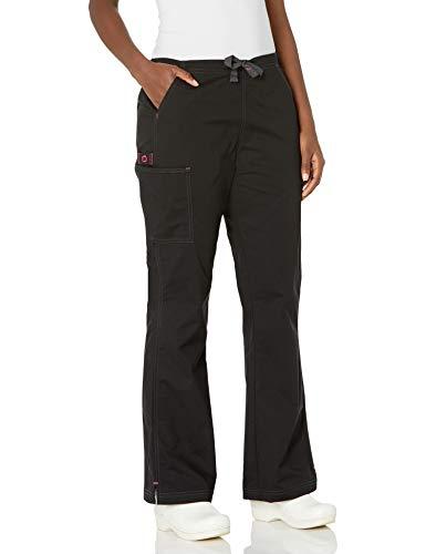 WonderWink Women's Wonderflex Grace Scrub Pant, Black, Medium