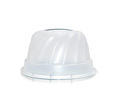 Rotho Gugelhupf Weiß Kuchenbehälter Kuchen Transport Behälter Tragegriff 30,5 x 28,5 x 17,5 cm