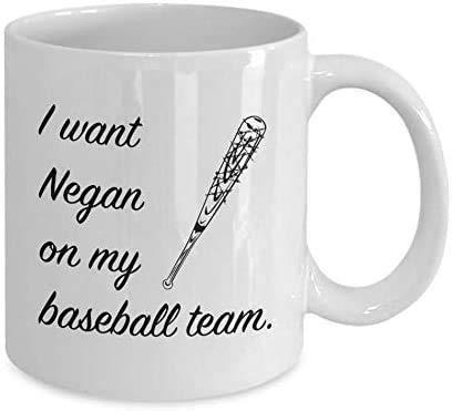 Tazas de cerámica #The-Walking-Dead serie de televisión de terror Daryl-Dixon Michonne Rick-Grimes I Want Negan On My Baseball Team Lucille Divertido regalo tazas de café 11 oz