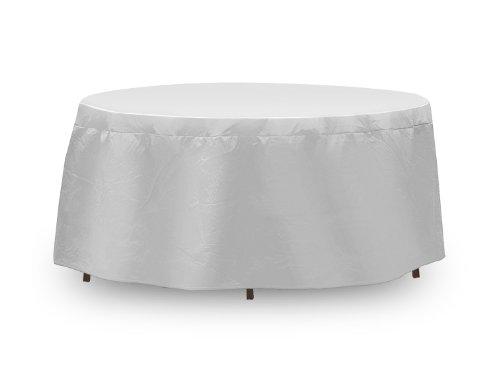 Coques de protection résistant aux intempéries pour table, table ronde 121,9 x 137,2 cm, gris