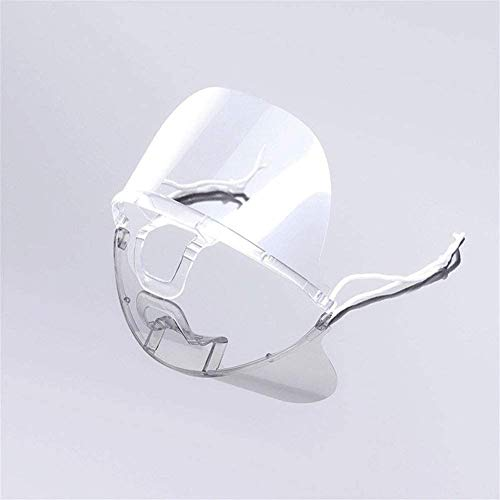 Schermo facciale antiappannante per surfista, protezione contro la saliva, 10 pezzi, plastica, trasparente, 10 pezzi