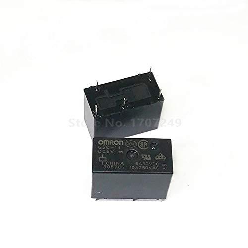 CCJW 10pcs / Lot OMRON relé G5Q-14-G5Q 14-5V DC5V G5Q-14-12V 12V CC G5Q-14-24V DC24V 5A 5 Pines Alternativa G5Q-1 G5Q-1-UE (Size : DC5V)
