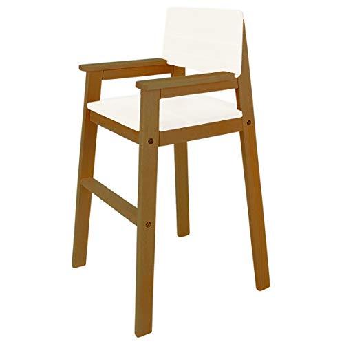 Chaise Haute en hêtre Massif Couleur Teck. Chaise Haute en hêtre pour la Table à Manger, Chaise Haute pour Les Enfants, différentes Couleurs possibles.