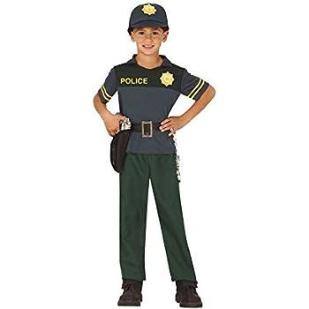Guirca Disfraz de Policía Verde para niños: Amazon.es: Juguetes y ...