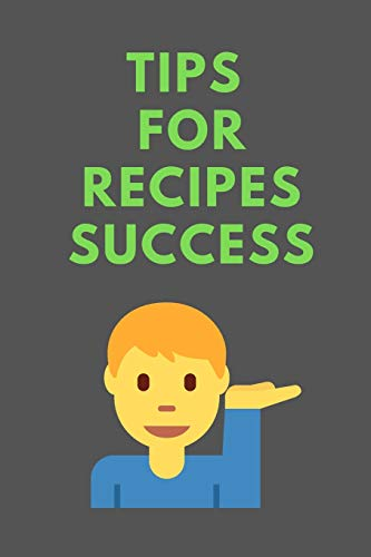 Fantastic Deal! Tips For RECIPES Success: All Purpose  Recipes  6x9 Blank Lined Formated Cooking No...