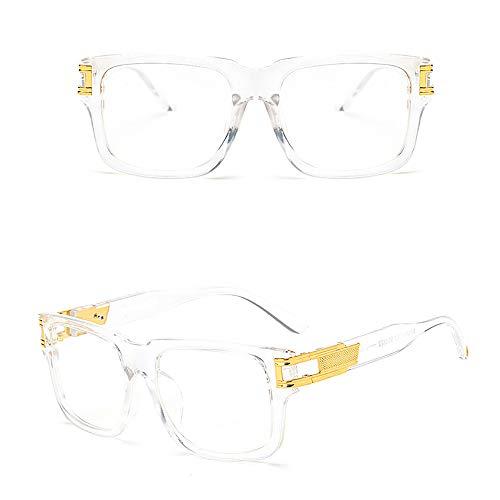 KNAGHT Gafas de sol cuadradas de diseñador Gafas de sol para exteriores con montura gruesa retro vintage para hombres, Gafas de sol retro con montura clásica, Para hombres, Mujeres (Color A)