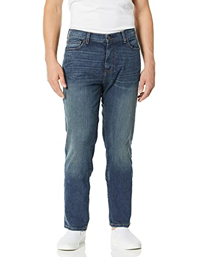 Tommy Hilfiger Men's THD Relaxed Fit Jeans, Dark wash/vintage, 40Wx30L