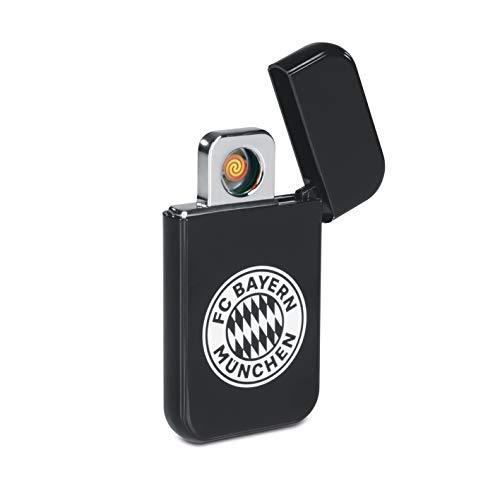 FC Bayern München USB Feuerzeug Glühspirale | Elektronisches USB-Feuerzeug aufladbar | FCB Elektronisches Feuerzeug Fanartikel aus dem Bayern Fanshop [Schwarz]
