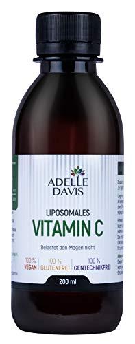 Adelle Davis® Liposomales Vitamin C | 1000 mg | 200 ml hochdosiertes flüssiges Vitamin C Formel mit Sonnenblumenlecithin | Vegan | Ohne Gentechnik | Sojafrei