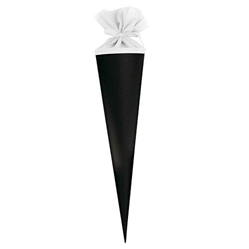 goldbuch Bastelschultüte, Rohling zum Selbstgestalten mit Filzverschluss, 70 cm, Schwarz/Weiß, 97830