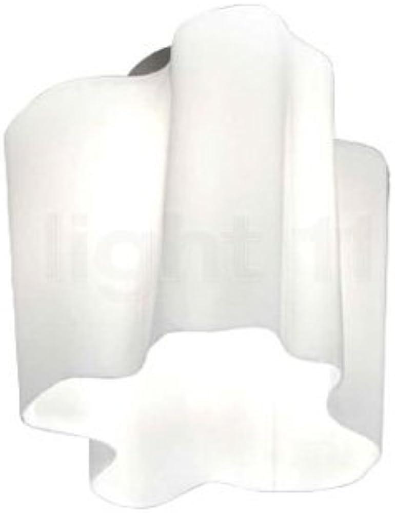 Artemide, lampada da soffitto, in vetro soffiato con finitura lucida,e telaio in metallo laccato 1060200