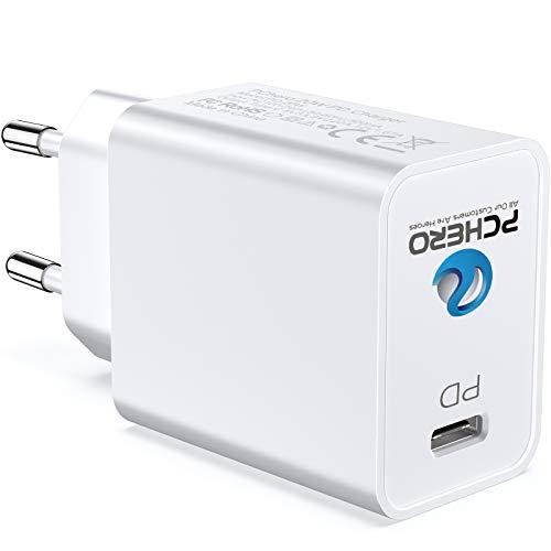 PChero Cargador rápido USB C, 20 W, PD fuente de alimentación tipo C, conector de pared compatible con iPhone, iPad Pro, LG G7 / V30 +, Samsung, Air Pods, Apple Watch y más