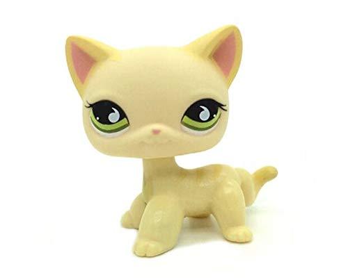 WooMax LPS Jouet Littest Pet Shop La Collection de Chat de Kitty Cat de Cheveux Courts d'oeil Vert Joue pour Le Cadeau de No?l d'anniversaire d'enfants