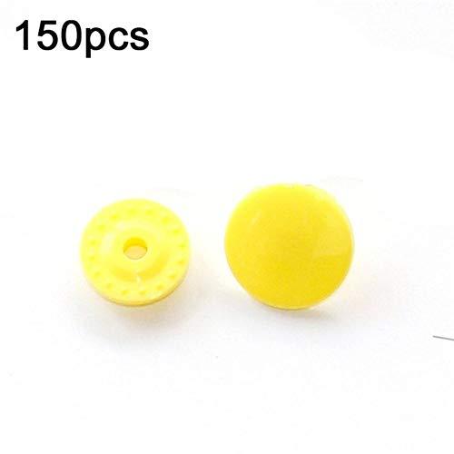 U-vorm druktang + 150 set T5 hars kunststof drukknopen drukknopen pluggen stof doe-het-zelf knopen naaimachine gereedschap T5 Geel.
