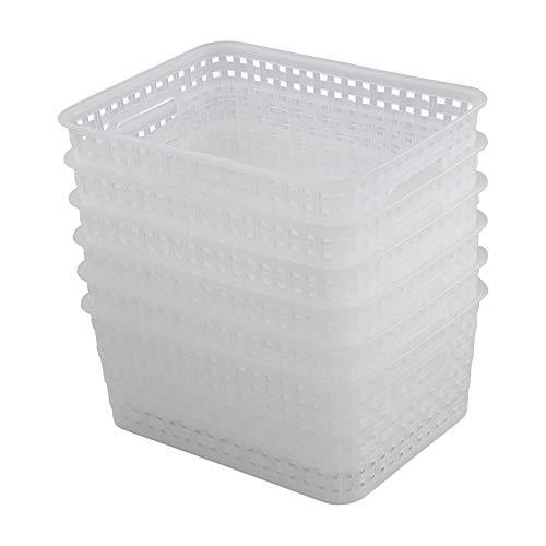 Parlynies Aufbewahrungskorb Kunststoff Set, 6 Pack Badezimmerkorb Transparent