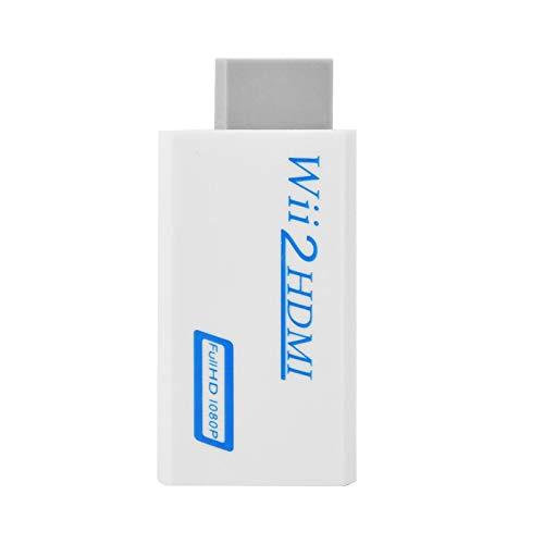 1 * Convertidor Wii 2 a HDMI Convertidor 720p/1080P Salida HD Adaptador de Audio y Video portátil Mini
