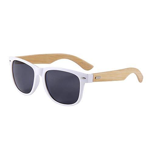A-Gavvzqbambus Holz Classic Brille Mode Reis Nieten Big Frame Sonnenbrille, 313-6
