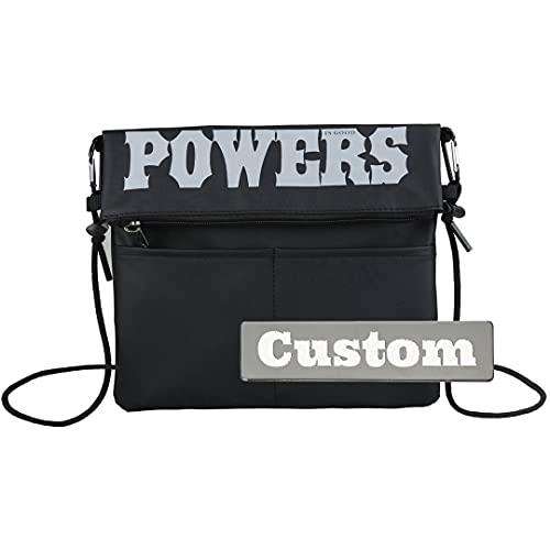 Messenger personalizzato personalizzato per gli uomini sopra la borsa da viaggio a spalla per la scuola, Nero , Taglia unica,