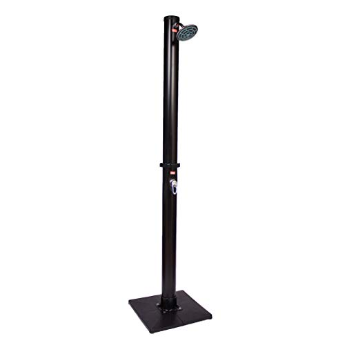GAME 4376-BB Hot and Cold Adjustment, Holds 5.5 Gallons of Water Outdoor/Outside Solar Shower, Freestanding or Mounts, 85-inch Tall x 4-inch Diameter