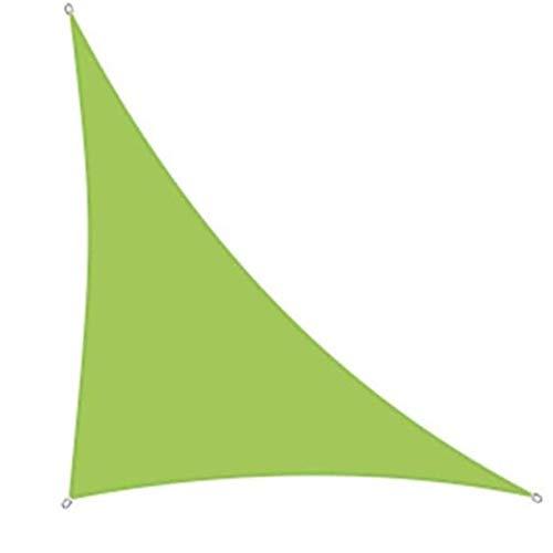 ZXD Vela De Sombra Triangular, Verde 98% De Bloqueo UV con Cuerda Libre Toldo De Vela Resistente Al Agua para Jardín, Patio, Parasol para El Jardín del Patio Trasero (Color : Green, Size : 3X4X5M)