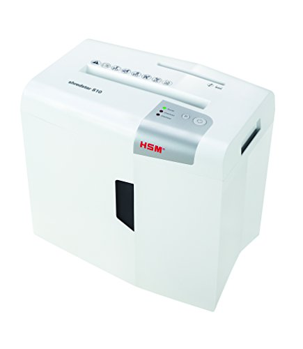 HSM Shredstar S10 - Destructora de documentos, 6 mm, color blanco plata