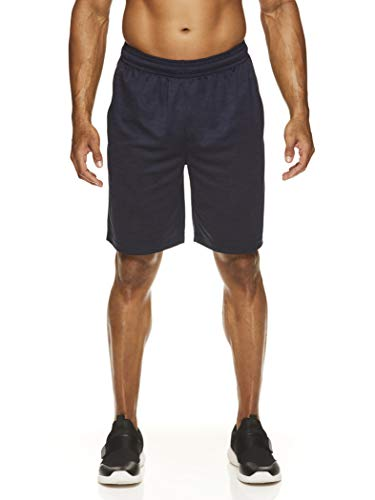 HEAD Men's Workout Gym & Running Shorts w/Elastic Waistband & Drawstring - Agent Navy Heather, X-Large