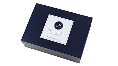 R & J Toffees Original Dark Almond Toffee 1lb gift box   Handcrafted & Award Winning