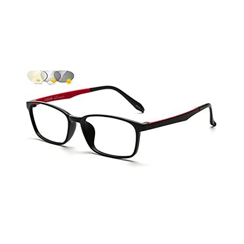 LGQ Gafas de Lectura multifocales progresivas refinadas Simples, Gafas de Sol fotocromáticas para Exteriores, Patas de Espejo TR elásticas, dioptrías de +1,00 a +3,00,Rojo,+2.50