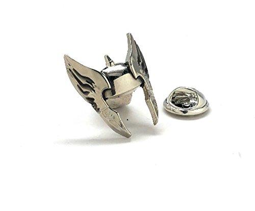 WIlliams and Clark Men's Executive Lapel Pin Norse Thor Mythology Warrior Helmet Lapel Pin Helmet Cool Wing Detailed Design Tie Tac