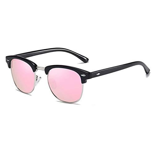 SSN Gafas De Sol Polarizadas Gafas De Sol para Hombres De Moda Que Conducen Red De Protección UV Especial Rojo El Mismo Párrafo Delgado (Color : D)