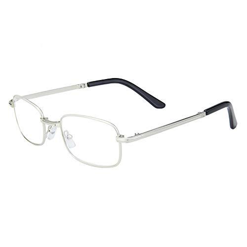 Anti Blue Light Blocking Leesbril Fashion Folding Anti Vermoeidheid Lezers Met Leder Gevallen Glazen Eyewear Voor Mannen,+1.50