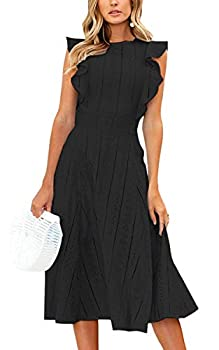 Best black ruffle dress Reviews