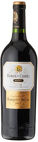 Marqués de Riscal - Vino tinto Reserva Barón de Chirel D.O.Ca. Rioja, Variedad Tempranillo, 20 meses de crianza en barrica de roble francés - Botella individual 750 ml