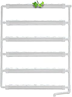 INTBUYING Wall-mounted Hydroponic Grow Kit 54Plant Sites 6 Pipes Garden Tool Vegetable