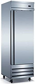Stainless Steel Single Solid Door Commercial Refrigerator Reach-In upright Cooler with Adjustable Shelves