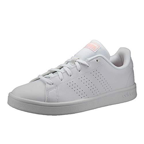 Adidas EE7510, Sneaker Mujer, Blanco/Rosa Brillante/Negro, 44 EU