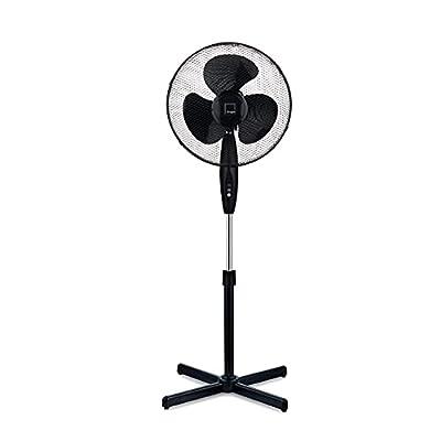"Knight 16"" Fan Pedestal Stand High Performance, 140cm Adjustable Height, 3 Speed Settings, Extra Wide Cross Base, Oscillating, Tilting Head"
